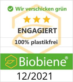 Biobiene Zertifikat für umweltfreundliche Verpackungen