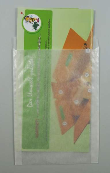 Flachbeutel 130x180+20mm Papier transluzent 100 Stück (FSP-FB130180)