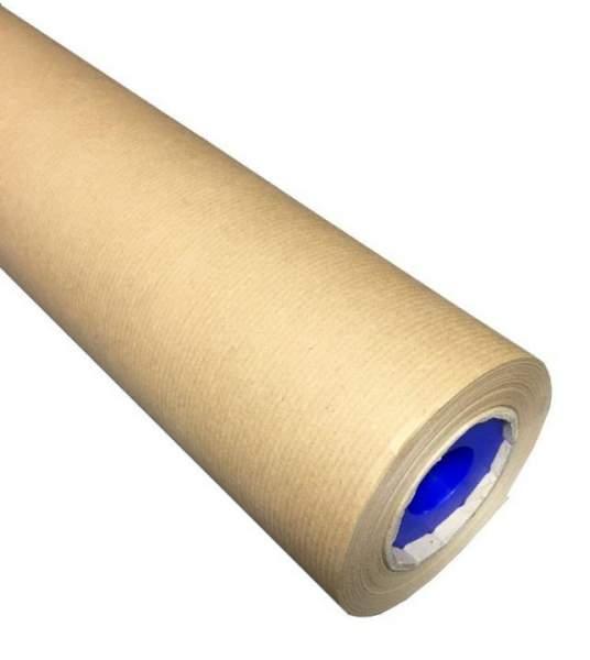 Packpapier Rolle -recyclingpapier eng gerippt braun