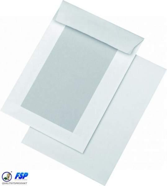 Weiße Papprückwandtaschen DIN C5 162x229mm ohne Fenster haftklebend