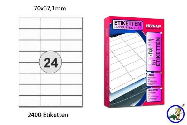 Papier-Etiketten 70x37,1mm DIN A4