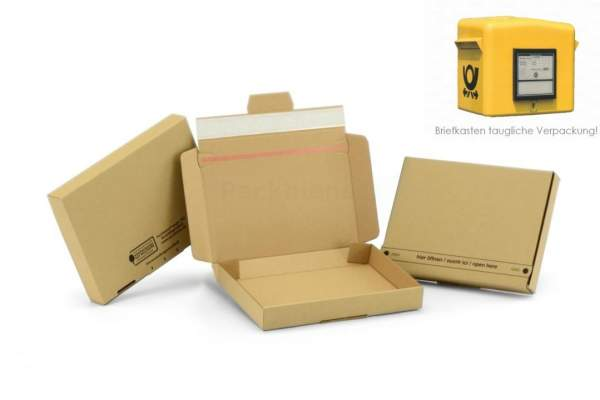 Braune Maxibriefkartons für den Briefkasten