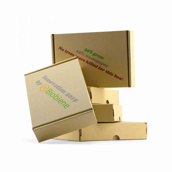 """Umweltfreundliche Graskartons """"Maxibrief"""" 35% Gras und 65% Altpapier"""