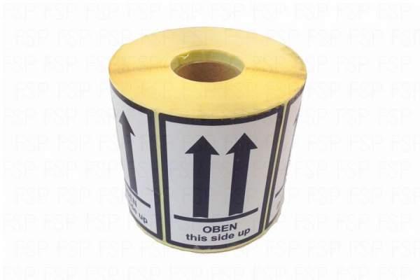 """Versandetiketten Hinweisetikett Symbol """"OBEN this side up"""" (Rolle á 1000 St. Etiketten)"""