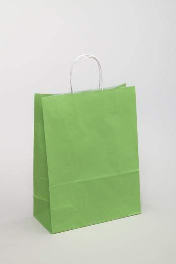 Umweltfreundliche Tragetaschen aus Papier in Grün