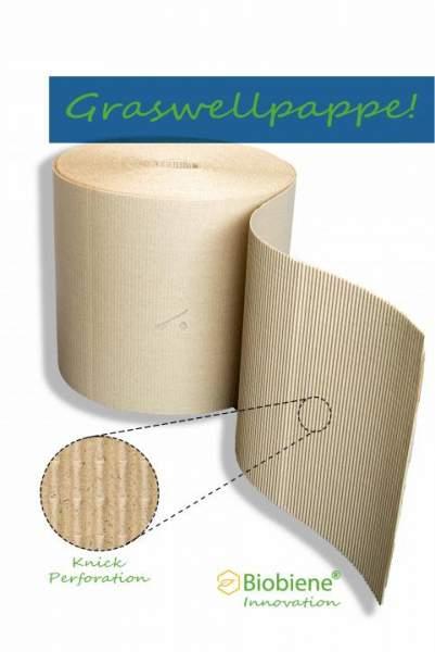 Biobiene Wellpolster® Rolle 40cm x 70m 100% Graspapier