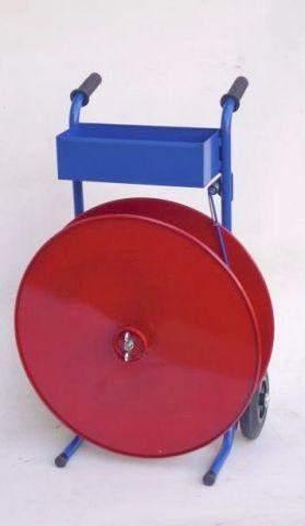 Abrollwagen für umweltfreundliches Umreifungsband aus Papier