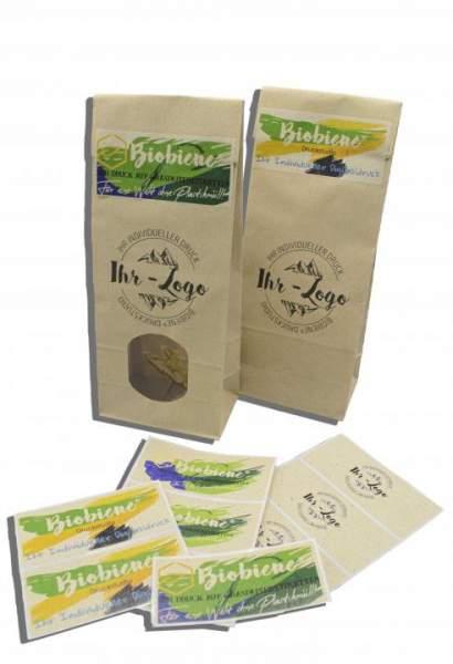 Etiketten aus Graspapier bedruckt