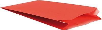 Faltenbeutel Kraftpapier 60g 120x45x200mm rot