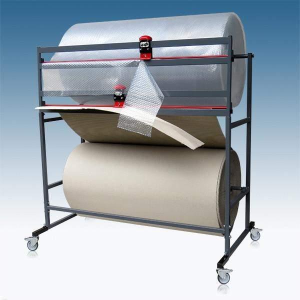 Doppelschneidständer für Folien Pappe Papier Schnittbreite 1250mm für 2 Rollen