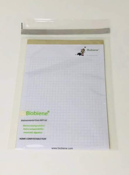 kompostierbare Bio-Folienbeutel 160x220mm Klappenbeutel A5