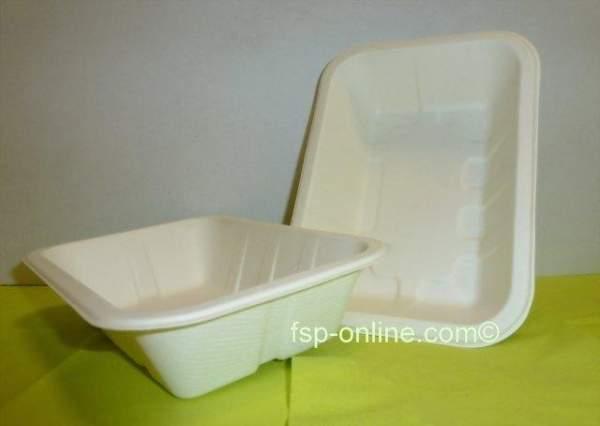 Pommesschale 173x122x40mm aus Zuckkerrohrbagasse kompostierbar