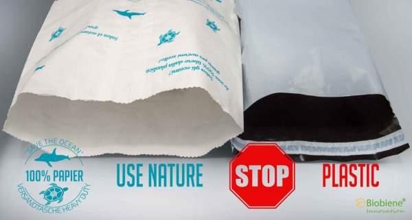 Use Nature 100% Papier Stop Plastic