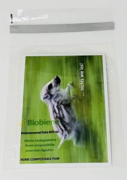 Bio-Folienbeutel kompostierbar 120x170mm A6