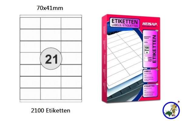 Papier-Etiketten 70x41mm DIN A4