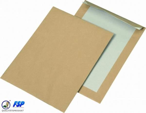 Braune DIN C5 162x229mm Papprückwandtasche ohne Fenster hk (250 Stück