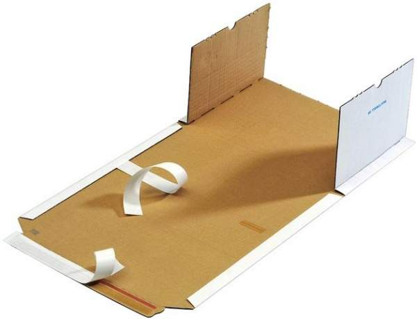 Buchverpackung weiß DIN A4