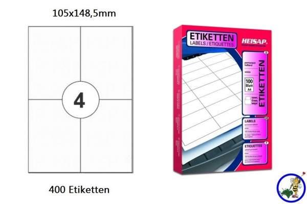 Papier-Etiketten 105x148,5mm DIN A4