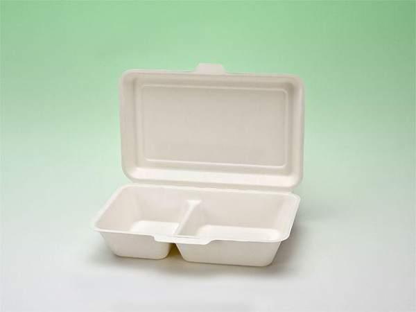 Lunchbox 320x242x34/48mm 2 Fächer kompostierbar