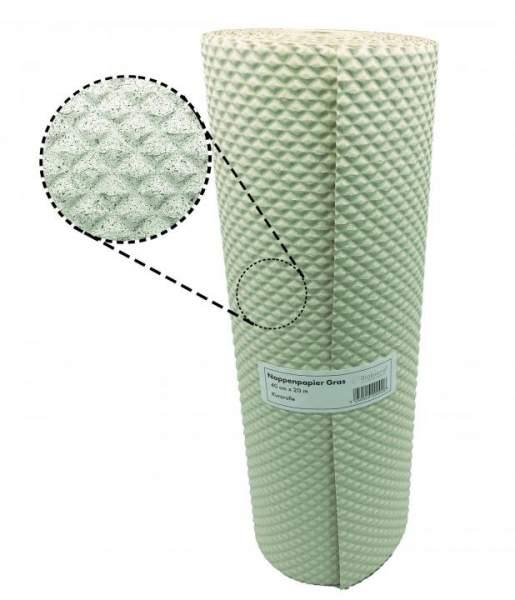 Kurzrolle Noppenpapier aus Grasfaser 40cm x 20m