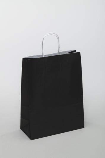 Papiertragetaschen 26+12x35cm Naturkraft 80g/m² Schwarz (PT261235SW)
