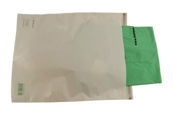 Biobiene® Ecomarine Versandtaschen 350x465mm 40mµ 10/K weiß Haftklebeverschluss