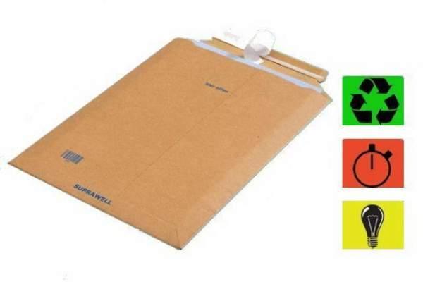 DIN B4 Versandtaschen 290x410mm braun