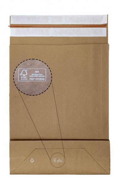 NEU 2021: Retourentasche aus Papier FSC® MIX Zertifizierung