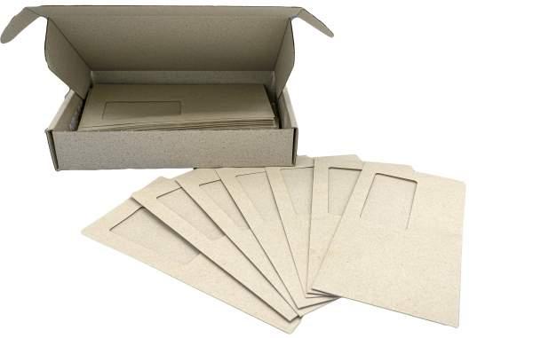Briefumschläge Graspapier DIN Lang mit Fenster (100 Stück)