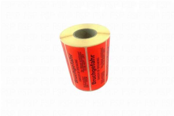 """Versandetiketten Hinweisetikett """"Bruchgefahr"""" 37x115mm (Rolle á 1000 St. Etiketten)"""