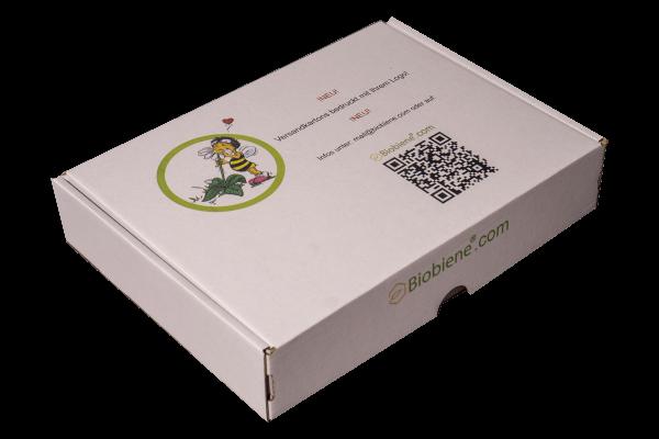 Maxibriefkartons mit Ihrem Motiv 350x250x50mm weiß einwellig