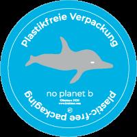 Etiketten Delfin - plastikfrei Verpacken! (500 Stück je Rolle)