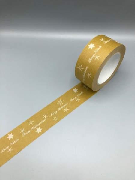 Weihnachtsklebeband Papierklebeband mit Weihnachtsmotiv