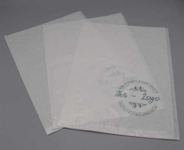 Pergamin Hüllen aus Umweltfreundlich Papier bedruckt mit Ihr Logo