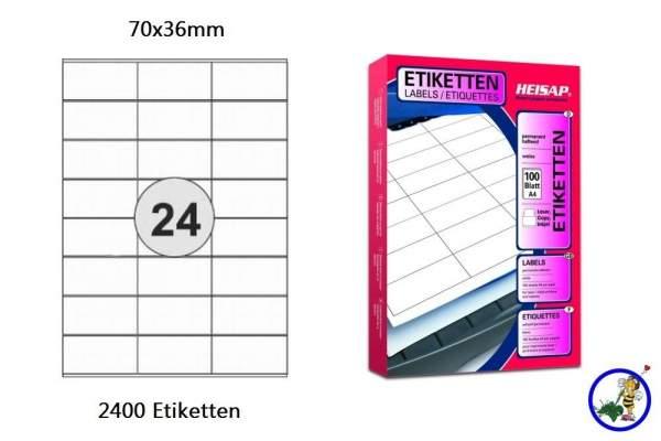 Papier-Etiketten 70x36mm DIN A4
