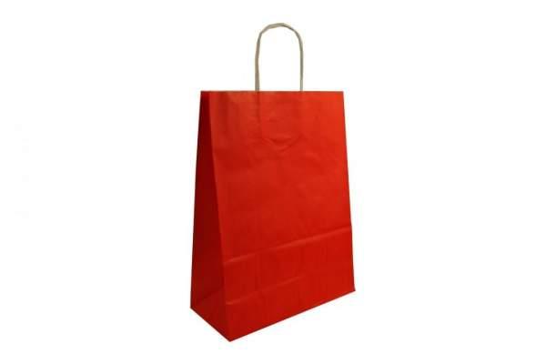 Umweltfreundliche Tragetaschen aus Papier in rot online kaufen