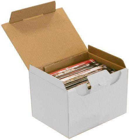 Kartons einwellig 100x80x60 mm mit Steckverschluss weiß (25 Stück)
