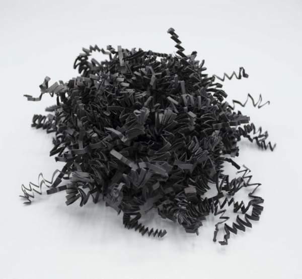 Nachhaltige Wolle aus Papier Schwarz