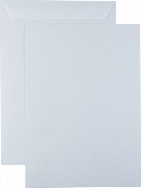 Versandtaschen haftklebend WEISS ohne Fenster 250x353mm