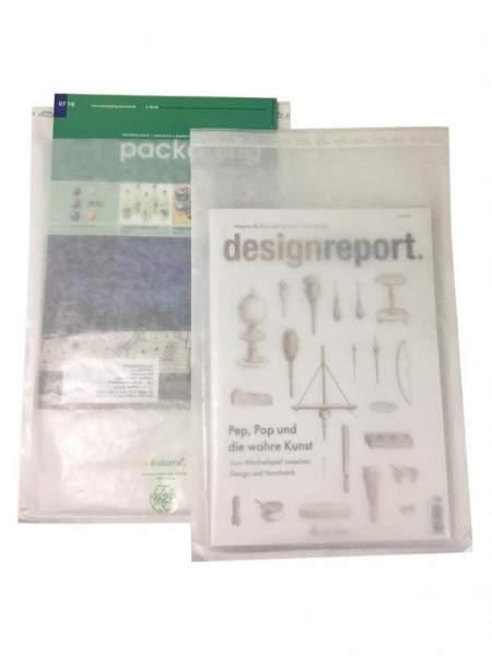 Front- und Rückseite kompostierbare Versandhüllen