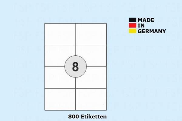 DIN A4 99,1x67,7mm Druckeretiketten Label weiß