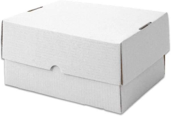 Stülpdeckelkarton aus Wellpappe 435x311x100mm weiß