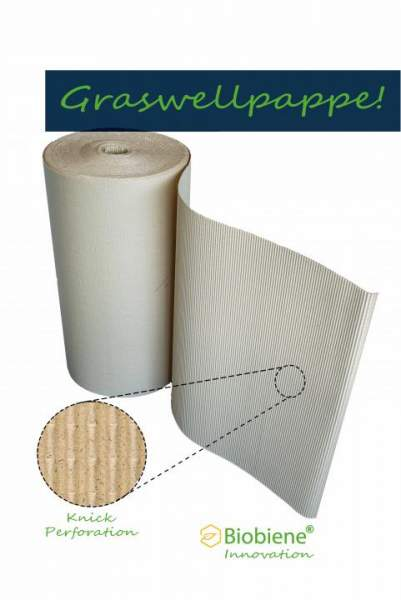 Biobiene Wellpolster® Rolle 80cm x 70m 100% Graspapier