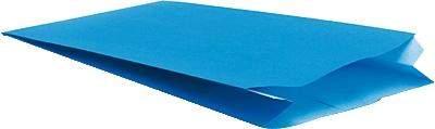 Faltenbeutel Kraftpapier 60g 120x45x200mm blau