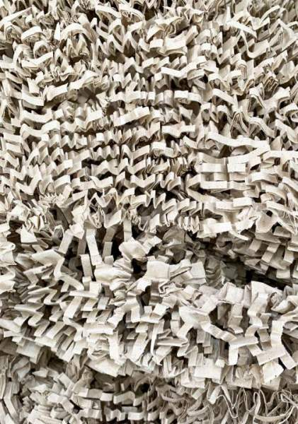 Papierwolle aus Graspapier Hell