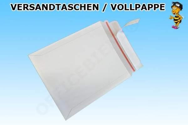 Versandtaschen aus Vollpappe 320x455mm weiss mit Selbstklebeverschluss