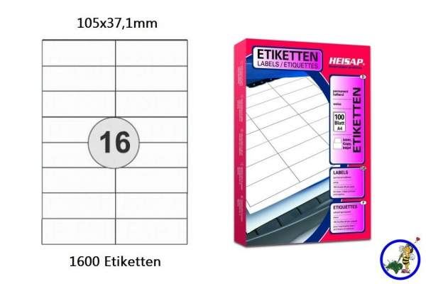 Papier-Etiketten 105x37,1mm DIN A4