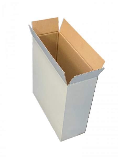 380x143x400mm Einwellige Wellpappkartons Weiß