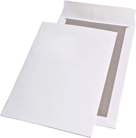 Papprückwandtaschen C4 229x324mm ohne Fenster haftklebend 120g/m² weiß
