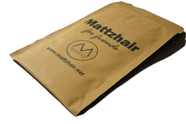Bedruckte Papierpolstertasche in braun 17,5x26,5cm